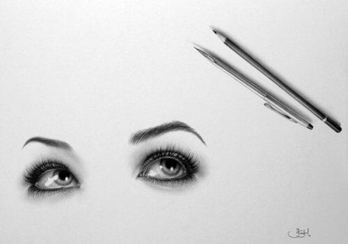 упражнения для глаз с карандашами